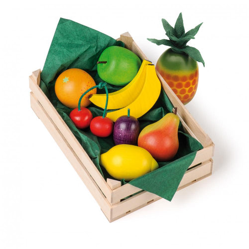 Erzi Play Food - Assorted Fruits In A Large Crate (10 Piece)