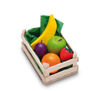 Erzi Play Food - Assorted Fruits In A Crate (5 Piece)