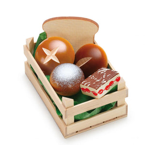 Erzi Play Food - Baked Goods In A Crate (5 Piece)
