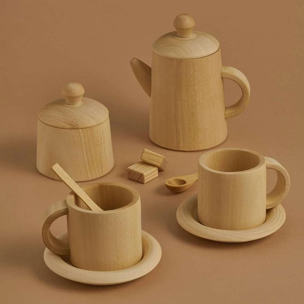 Raduga Grez Tea Set - Natural