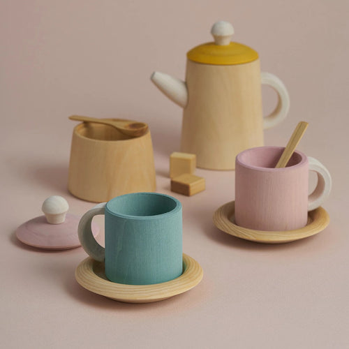 Raduga Grez Tea Set - Mustard and Pink