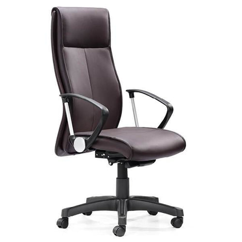 Executive Niche Chair in Black Leather | EX80