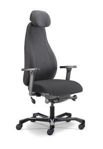 Ergospine Fabric Task Office Chair in Black (24h Chair)