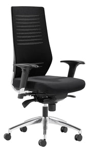 Wave Mesh Ergonomic Task Chair in Black