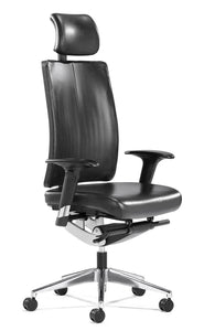 Flex-Exec Stylish Executive Office Leather Chair in Black