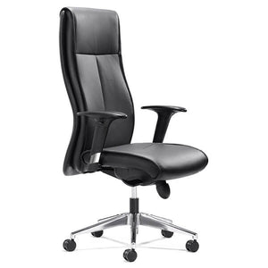 Executive Niche Chair in Black Leather | EX70