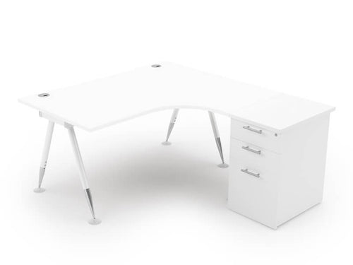Javelin Single Crescent Desk