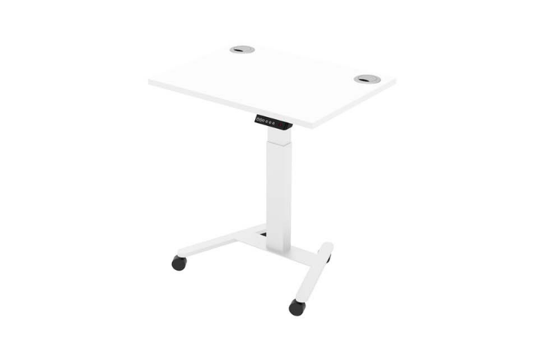 Sit stand desks in an office