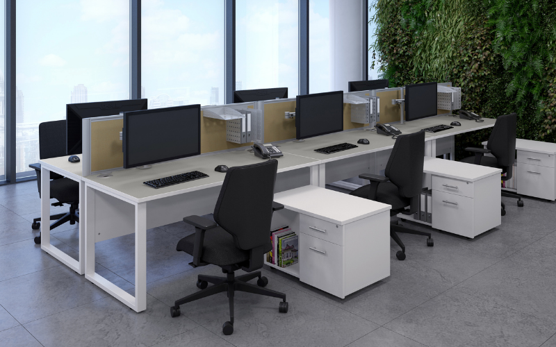 Bench desks and workstations