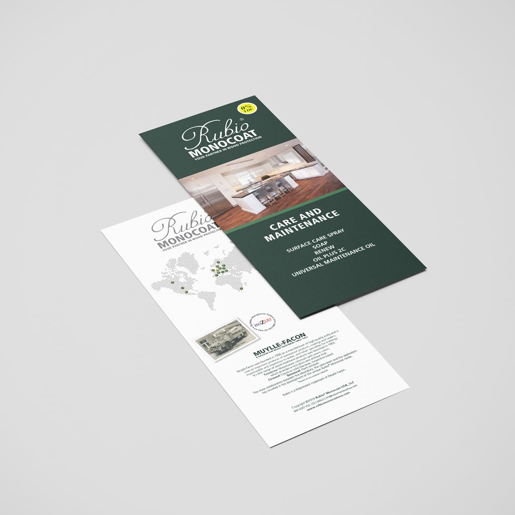Rubio Monocoat Care & Maintenance Brochure (EN)