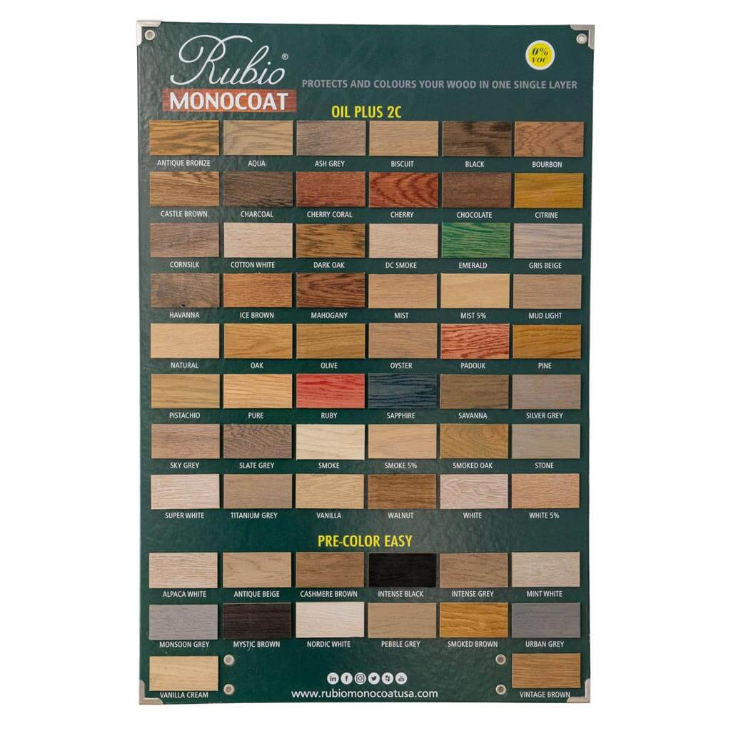 Rubio Monocoat Color Display Board