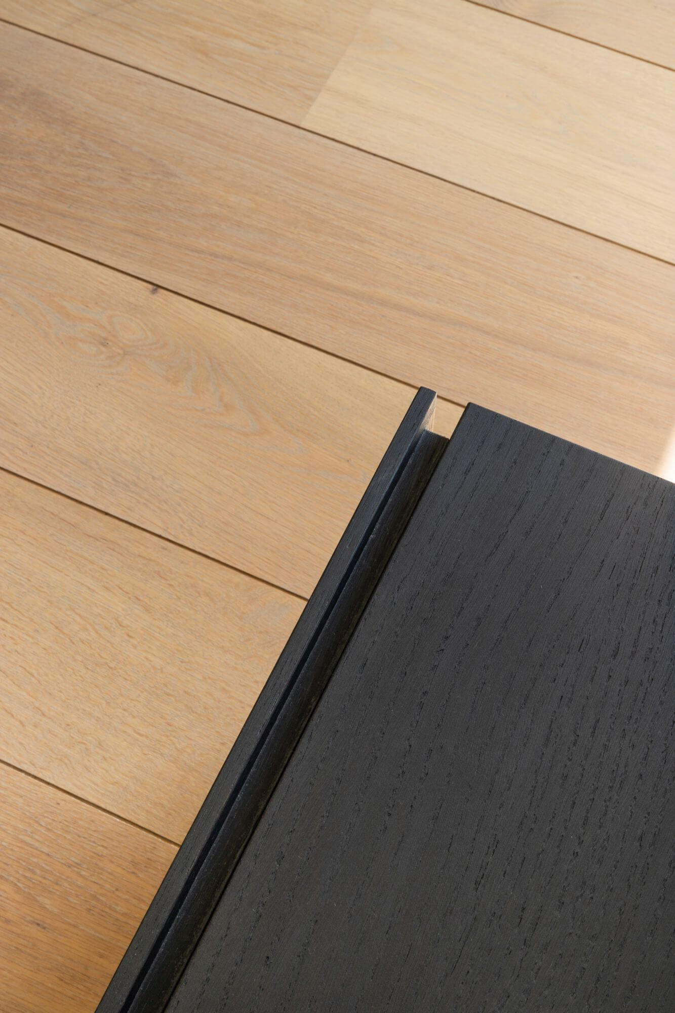 Details of wooden floor finished with Rubio Monocoat.
