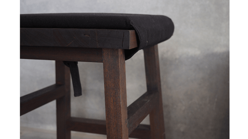 close up of a wooden stool finished with Rubio Monocoat.