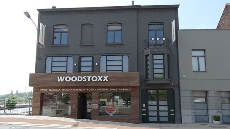 A wooden facade finishing using an exterior grade wood finishing oil.