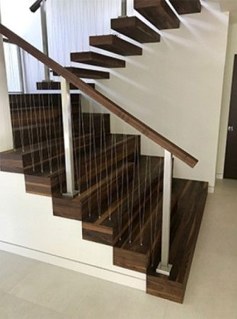 Unique wooden staircase finished with Rubio Monocoat.