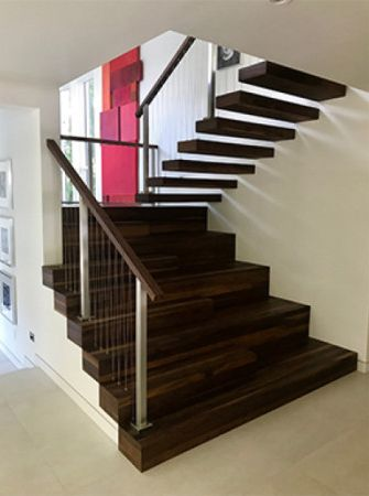 Rubio Monocoat used to finish walnut stairs.