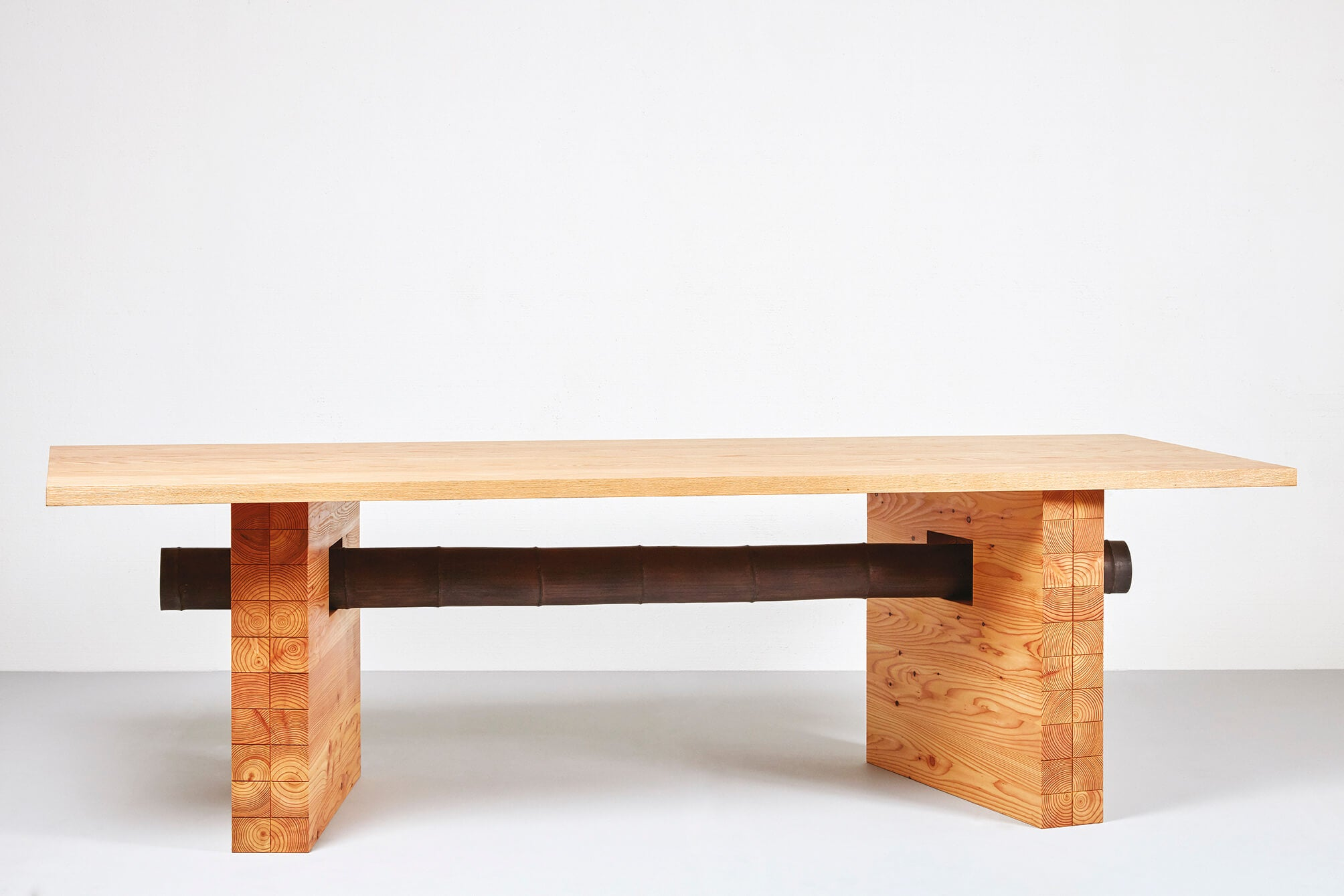 Furniture art exhibit features wood finished with Rubio Monocoat hardwax oil finishes.