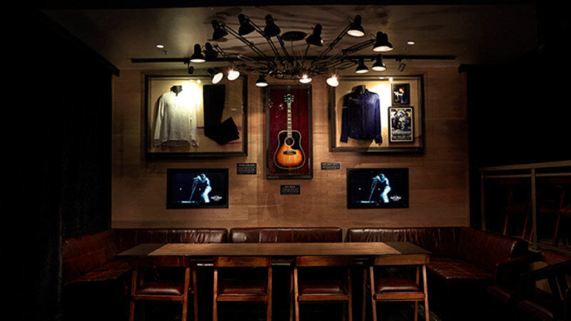 Wooden floors in Hard Rock Cafe finished with Rubio Monocoat.