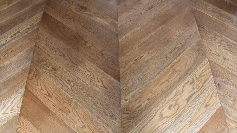 Detail shot of wooden floors finished with Rubio Monocoat Oil Plus 2C.