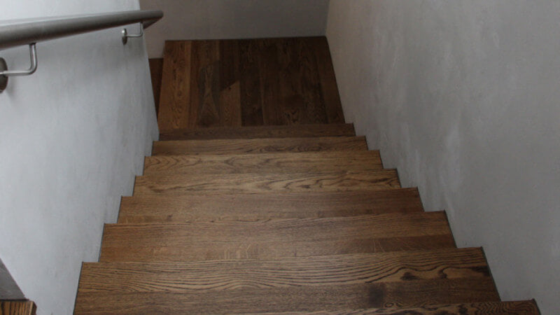 Wooden stairs finished with Rubio Monocoat.