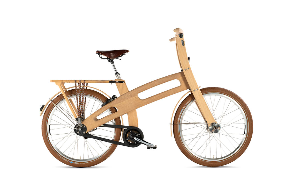 Commuter bike made from wood.