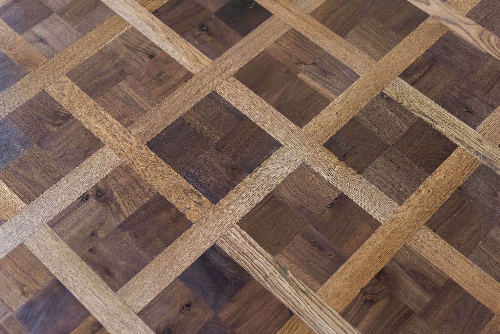Another close up of beautiful parquet wooden floor finished with Rubio Monocoat.