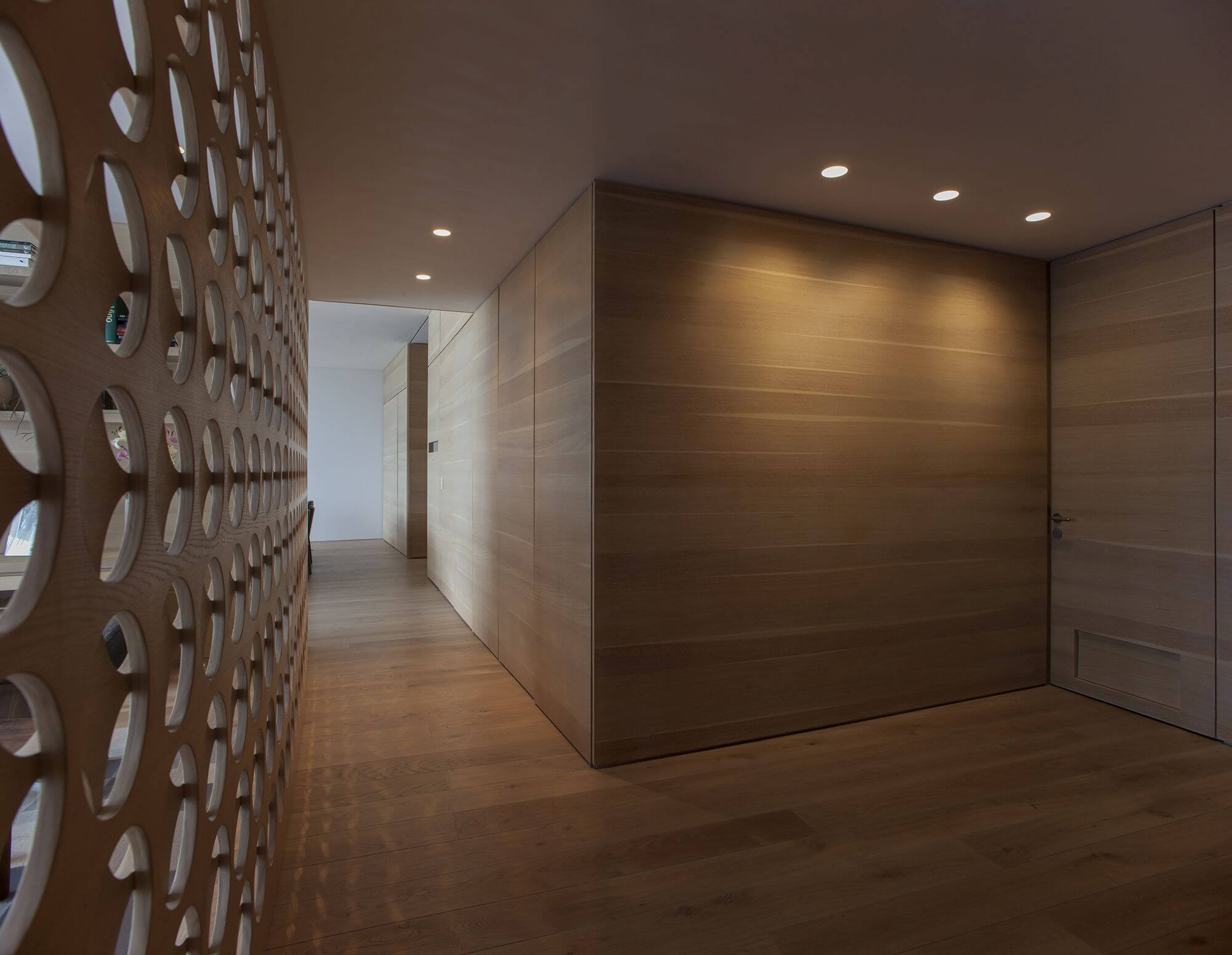 Wooden features in private apartment is finished with Rubio Monocoat.
