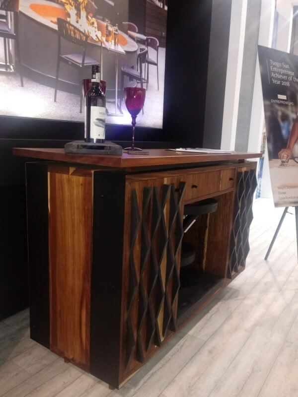 African sourced wood desk.