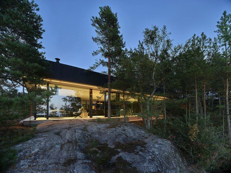 Scenic private home in Finland has wood features finished with Rubio Monocoat.