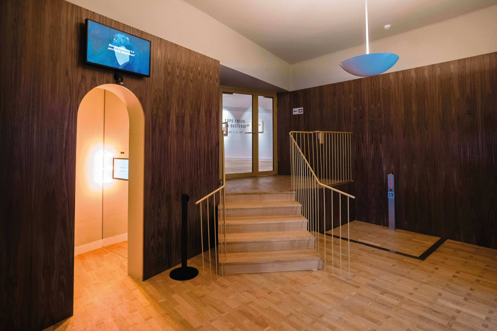 Museum in Belgium features art from the past and wood floors finished with Rubio Monocoat.