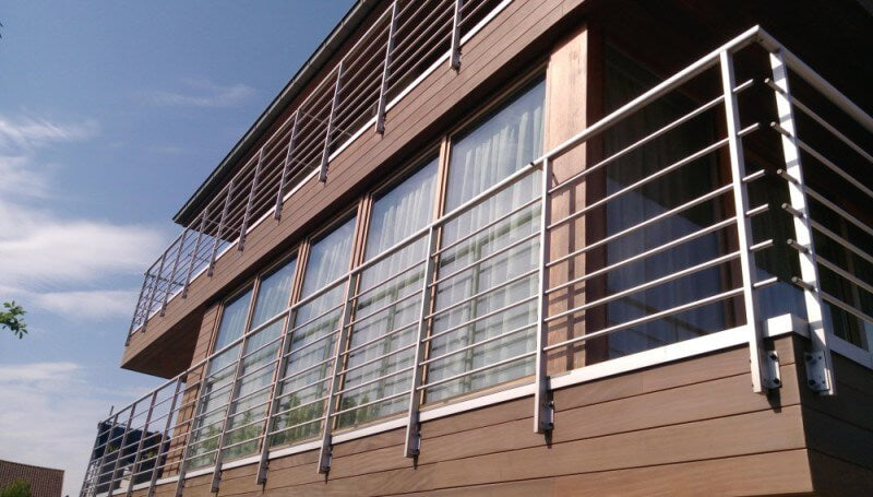 Balcony of house with Rubio Monocoat exterior finish on it.