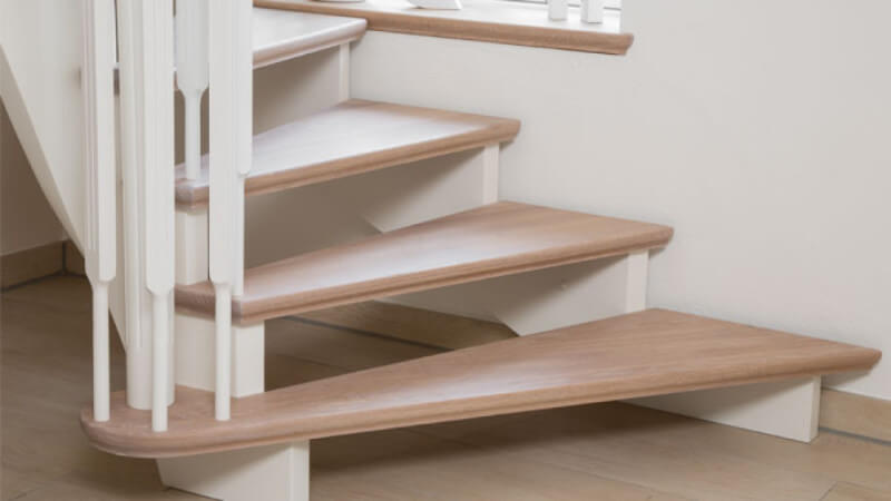 Oak stair treads finished with Rubio Monocoat hardwax oil finish.
