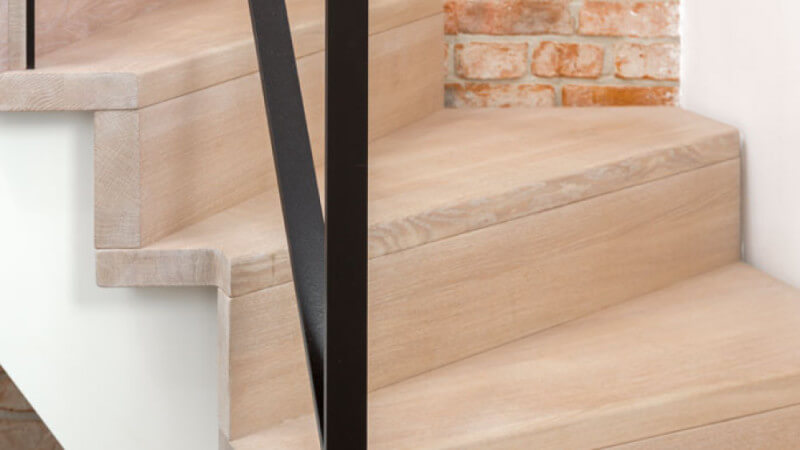 Oak stair treads finished with Oil Plus 2C hardwax oil wood finish.