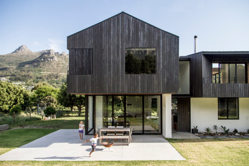 Beautiful modern house with all exterior wood finished with Rubio Monocoat.