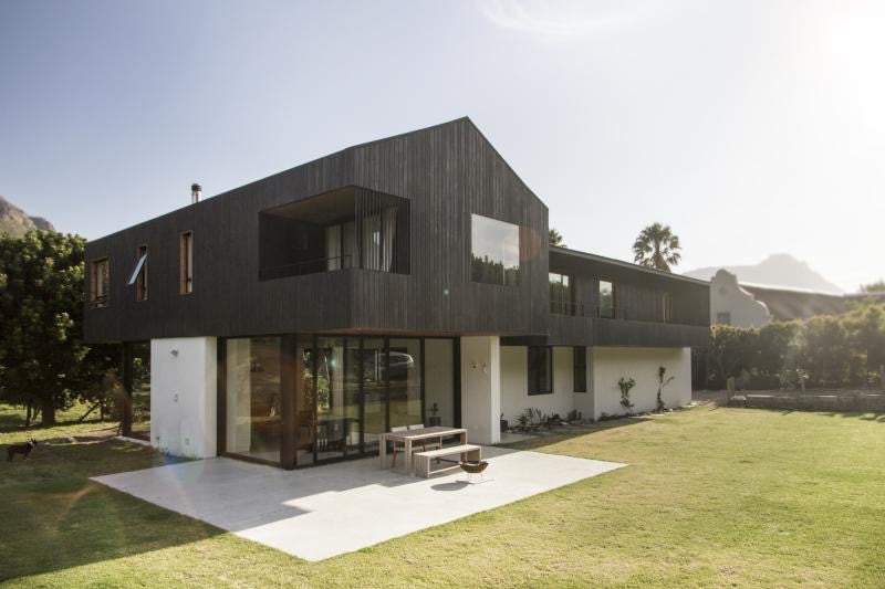 Rubio Monocoat products used for exterior wood on modern house.