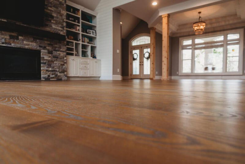 Details of gorgeous grain in hardwood floors finished with Rubio Monocoat.
