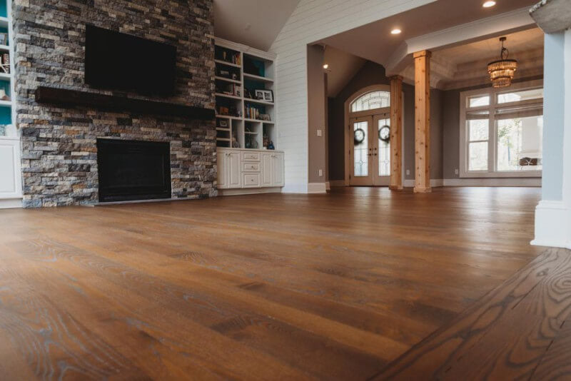Beautiful ash wood flooring finished with Rubio Monocoat.