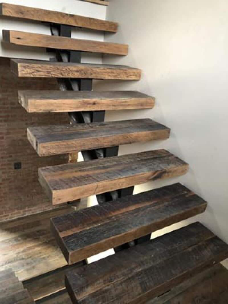 Oak stair treads finished with Rubio Monocoat.