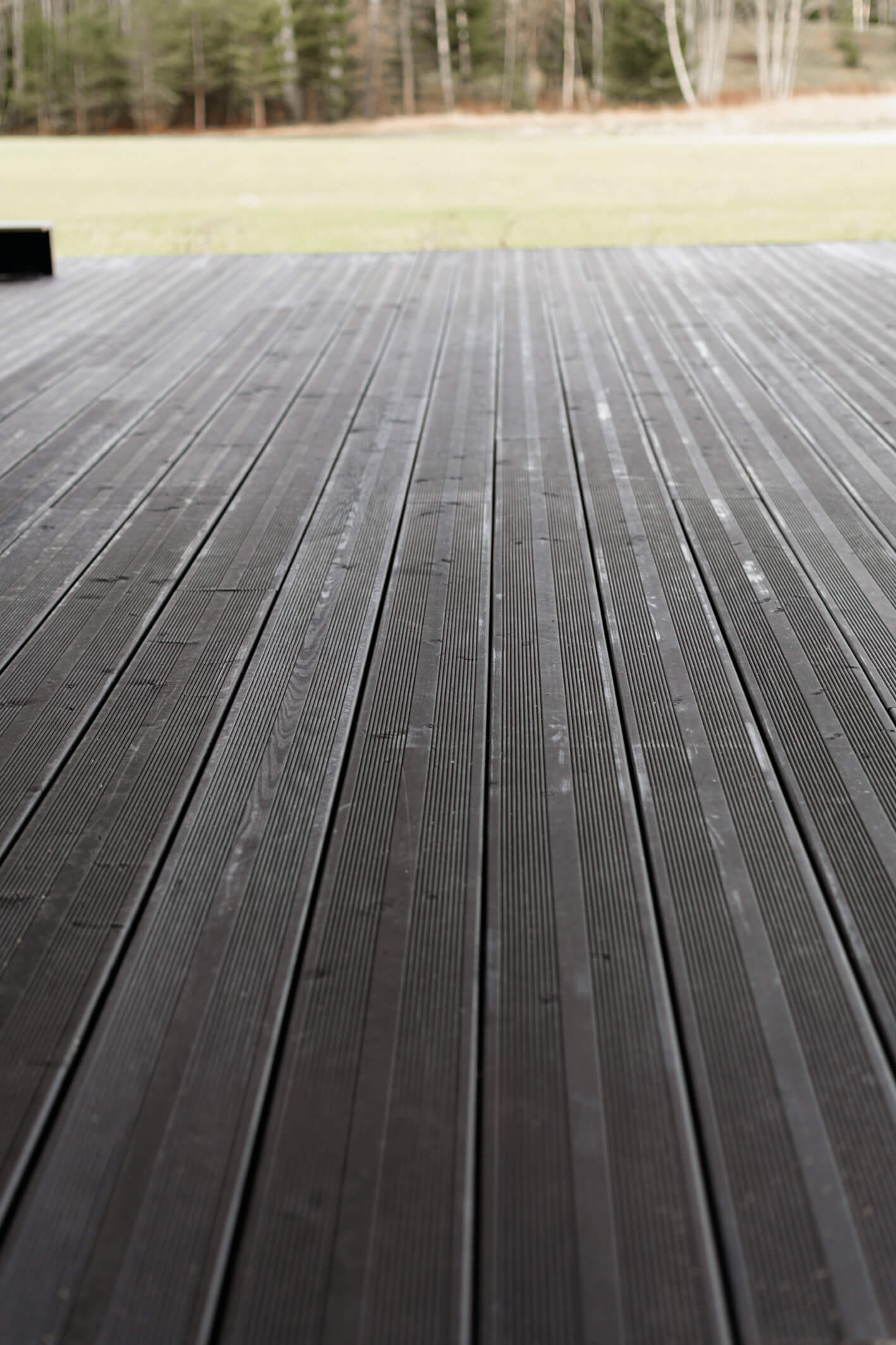 Beautiful wooden deck finished with Rubio Monocoat hardwax oil wood finish.
