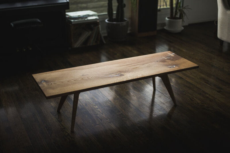 Hardwood coffee table finished with a hardwax oil wood finish.