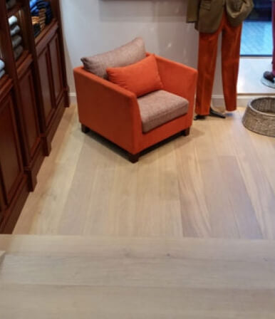 European white oak flooring with Oil Plus 2C