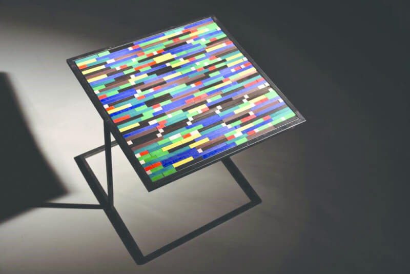 Rubio Monocoat used to finishe colorful wooden coffee tables.