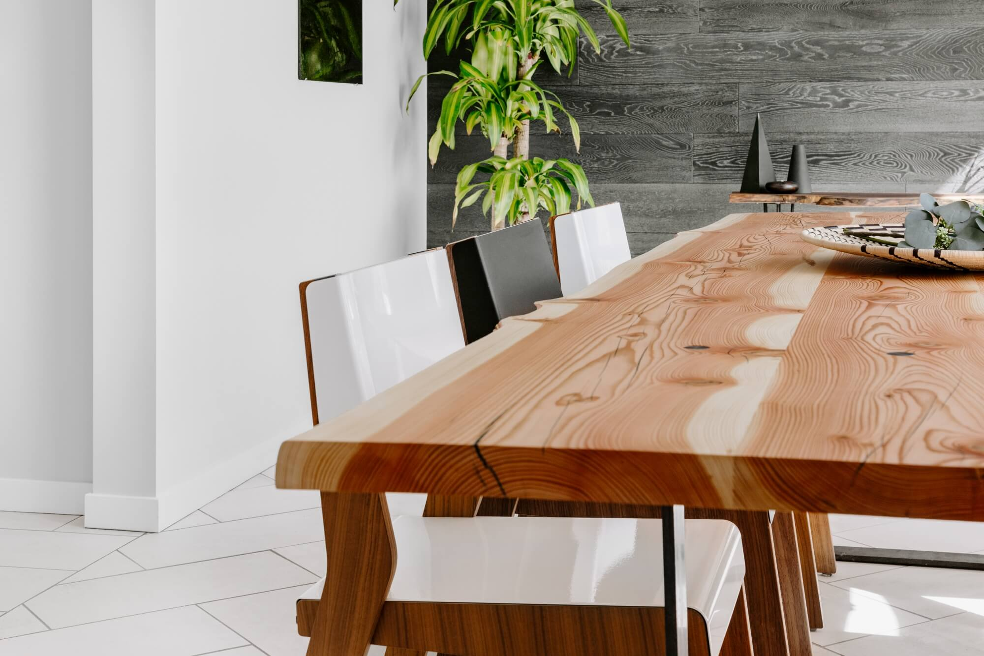 Responsible sourced wood table.