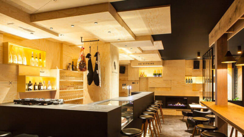 Restaurant in Belgium boasts Pine finished with Rubio Monocoat.
