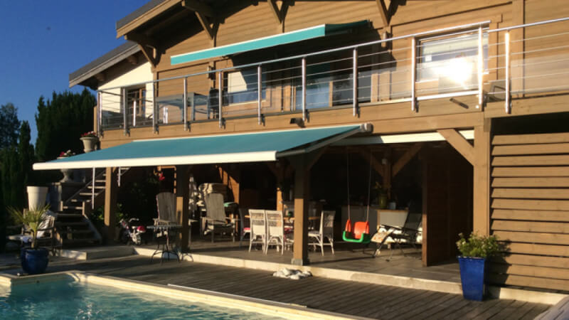 The back of a chalet that was recently renovated using Rubio Monocoat wood finishing products.