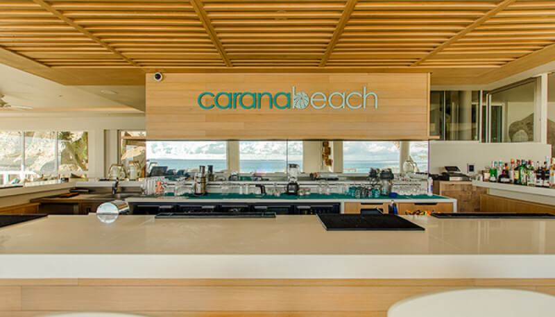 The Carana Beach resort bar has wood finished with Rubio Monocoat hardwax oil wood finish.