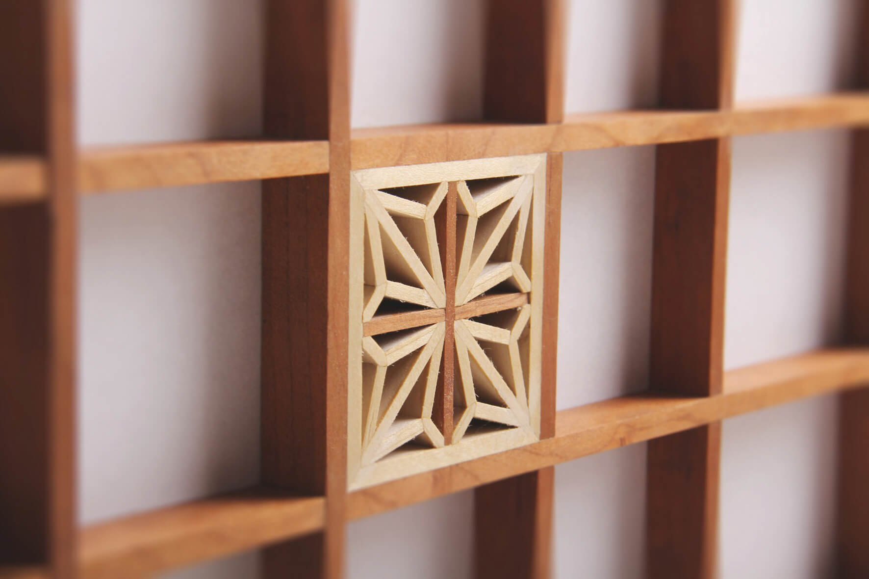 Wooden detail of fine woodworking.
