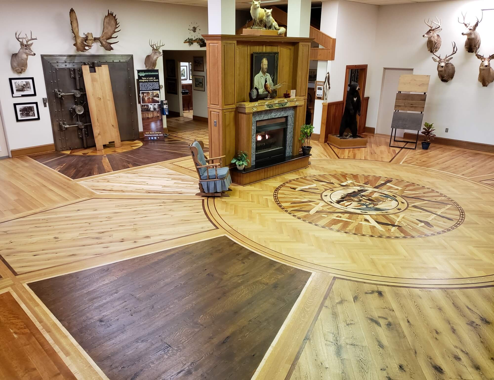 Allegheny Mountain Hardwood Flooring Showroom was finished using Rubio Monocoat by Hickman Woods.