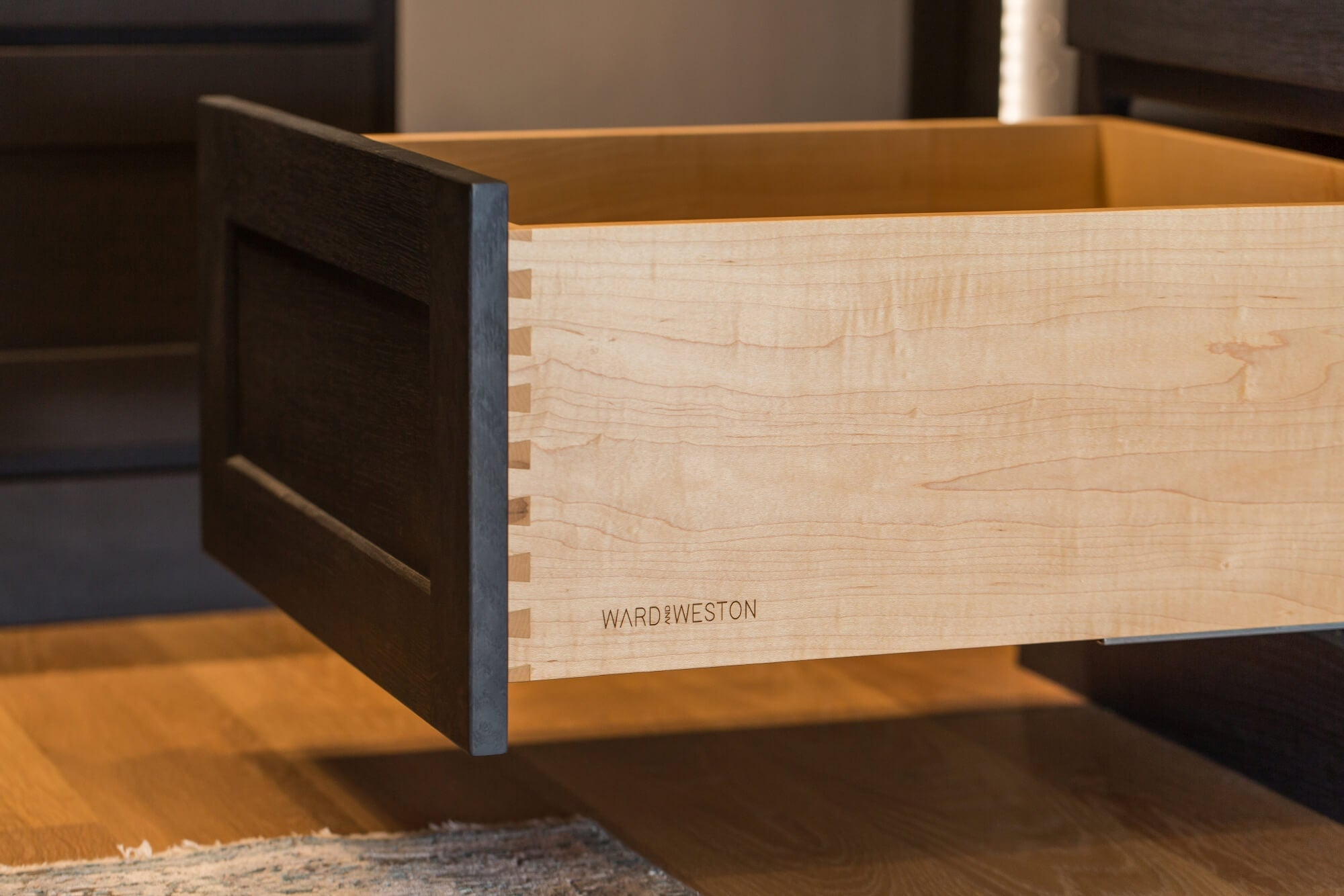 Dovetail drawers in a luxury close made from solid wood.