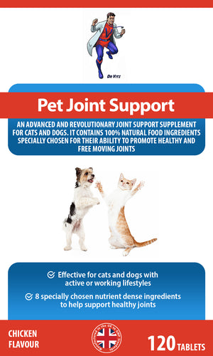 Pet joint support tablets (cats/dogs) - Dr Vitz